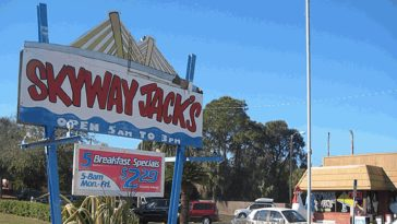 Exterior of Skyway Jacks