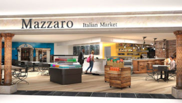Rendering of an Italian Market