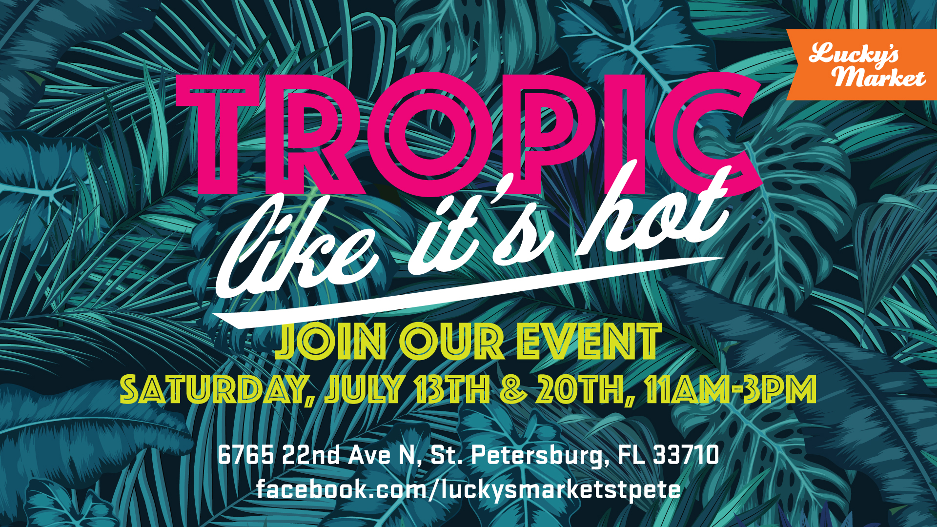 "A poster for ""Tropic like it's hot"""