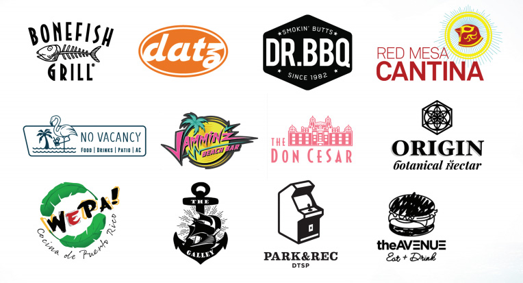 Logos of the sponsors of the event