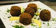 Plate of falafel from Mio's Grill & Cafe in downtown St. Pete