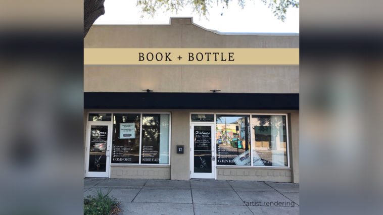 Storefront of Book + Bottle