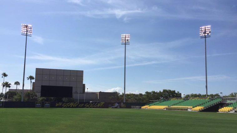 Al Lang Stadium soccer field