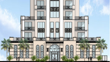 Rendering of The Perry, a luxury condo tower planned for downtown St. Pete.