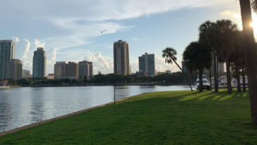 Waterfront skyline of St. Pete at Vinoy Park.