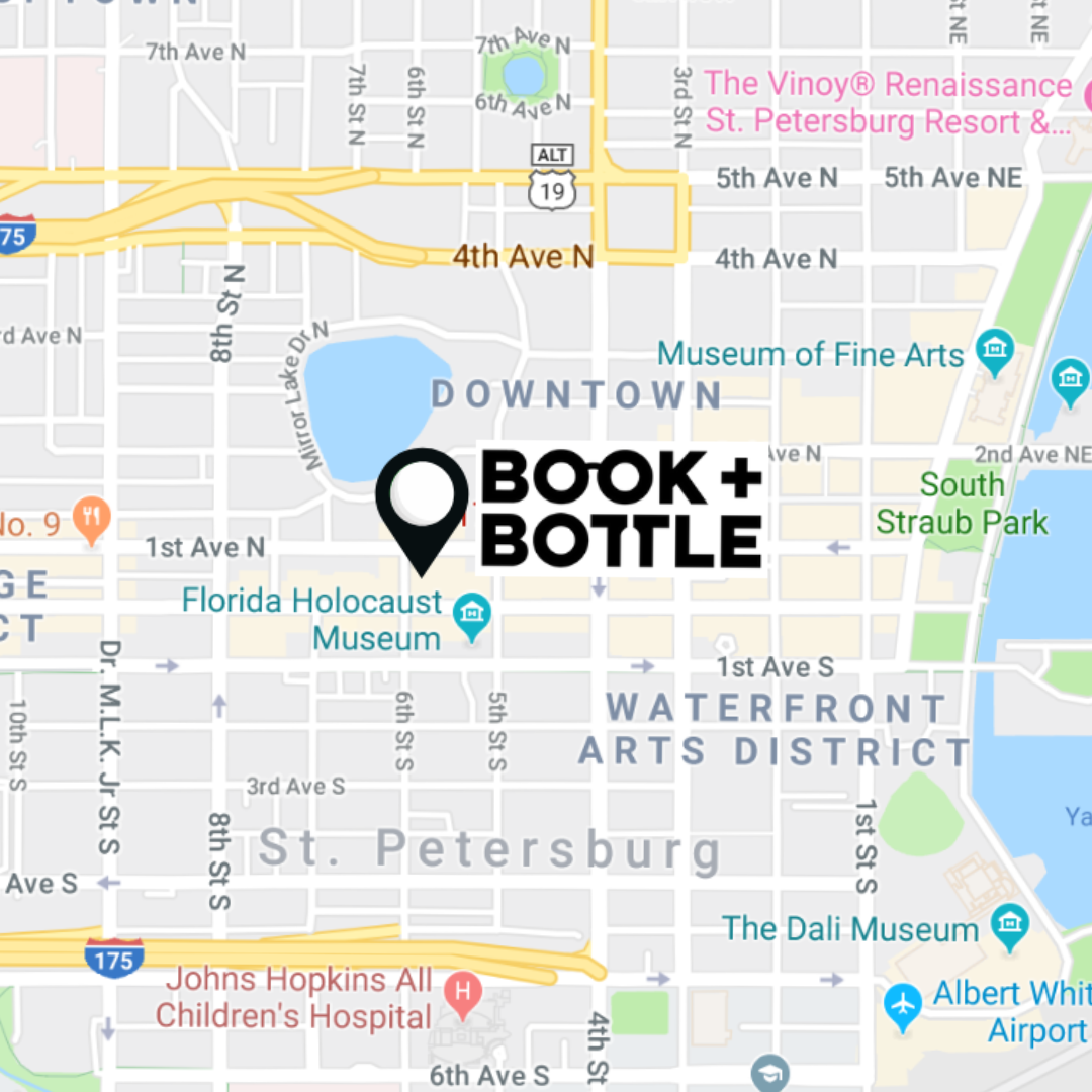 Map of the newly announced location of Book + Bottle