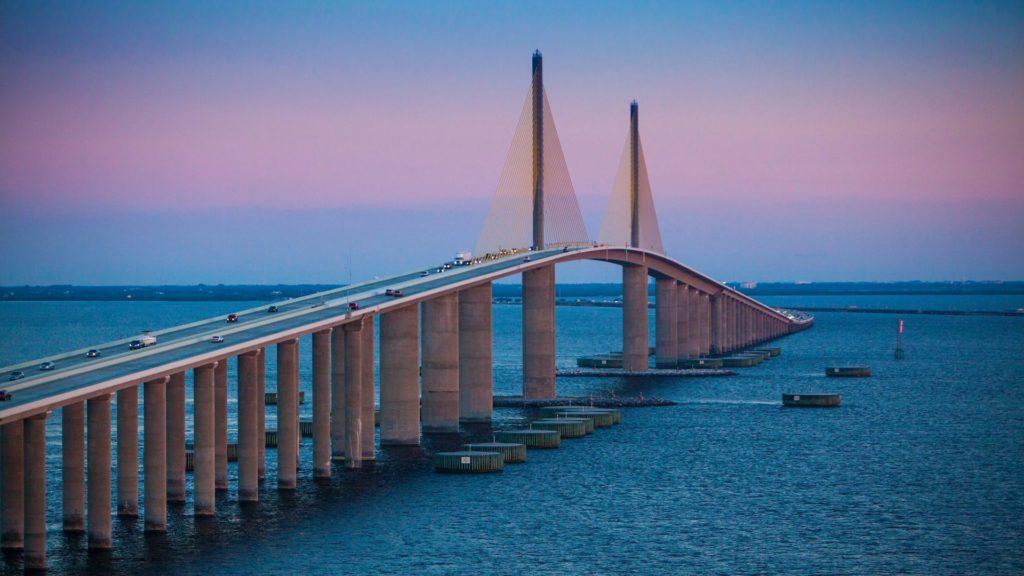 Photo of Skyway Bridge at Sunrise