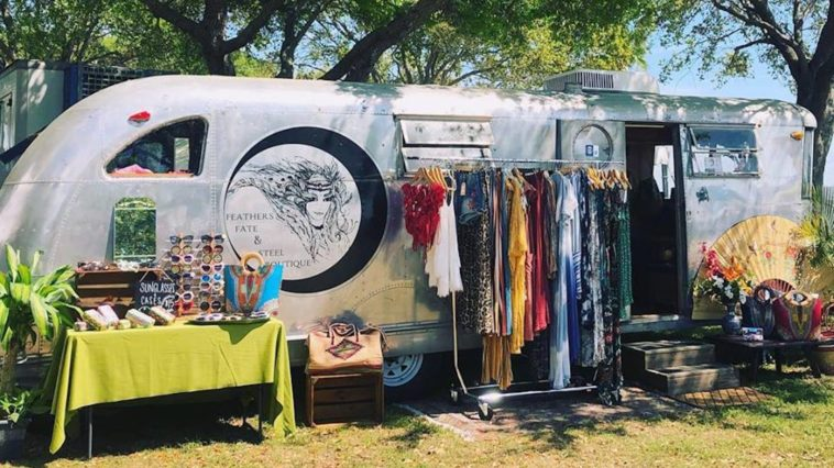 Airstream transformed into a clothing boutique