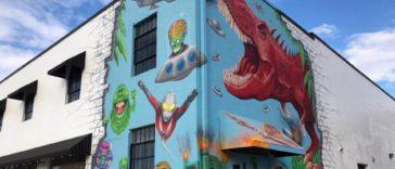 Dinosaur mural