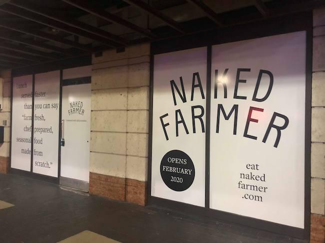 Exterior of new restaurant called Naked Farmer