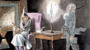 "Illustration of Charles Dickens' ""A Christmas Carol"""