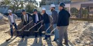 Brewers dig up dirt at a groundbreaking ceremony