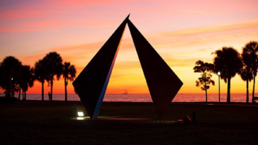 Photo of a sunrise on the waterfront of St. Pete, Florida