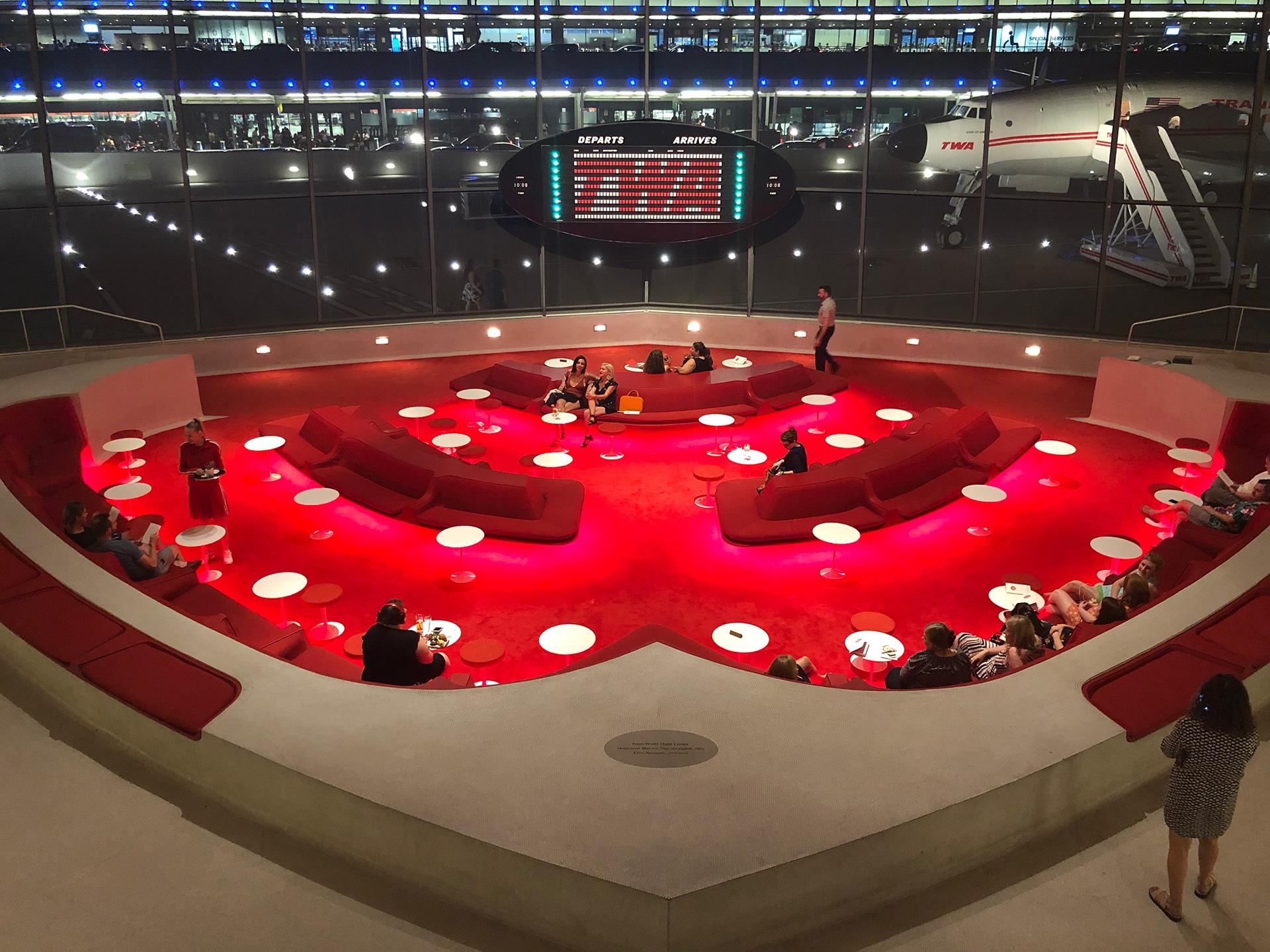 Photo of TWA hotel lounge