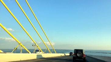 Photo on top of the Skyway Bridge in Tampa Bay