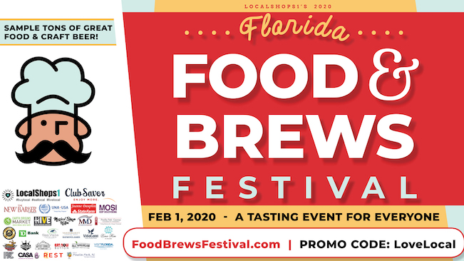 Flyer for a new food festival in Tampa Bay