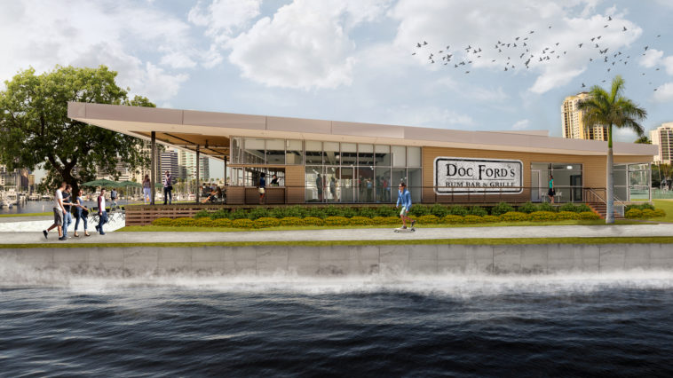 Rendering of a waterfront rum bar opening on the St. Pete Pier
