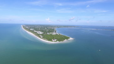 Aerial photo of Sanibel Island