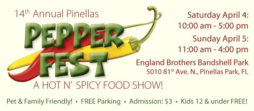 Logo for Pepper Fest in Pinellas Park