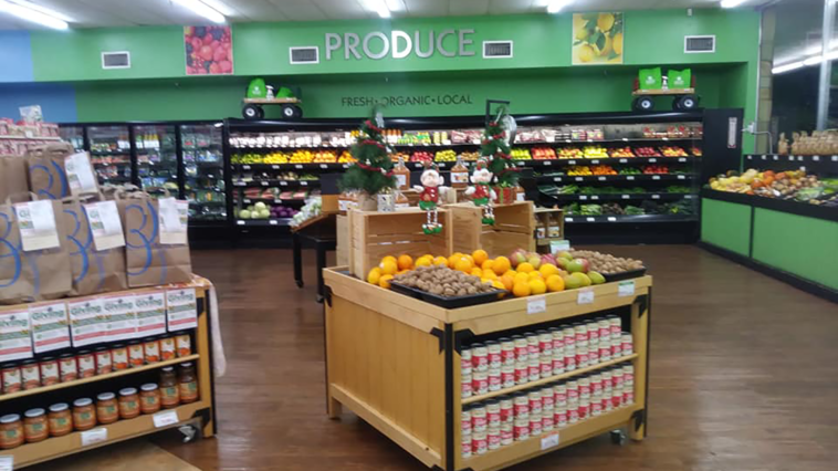 Photo of a local produce section
