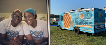 Photo of a waffle food truck