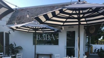Patio shot of Baba on Central in St. Pete