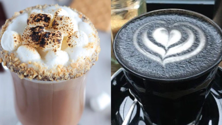 Photo of two gourmet lattes