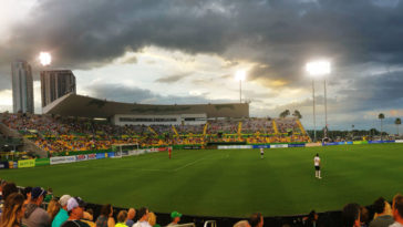 Al Lang Stadium at Sunset
