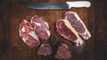 Photo of steak on a butcher block