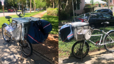 Photo of USPS Mail Delivery Bikes