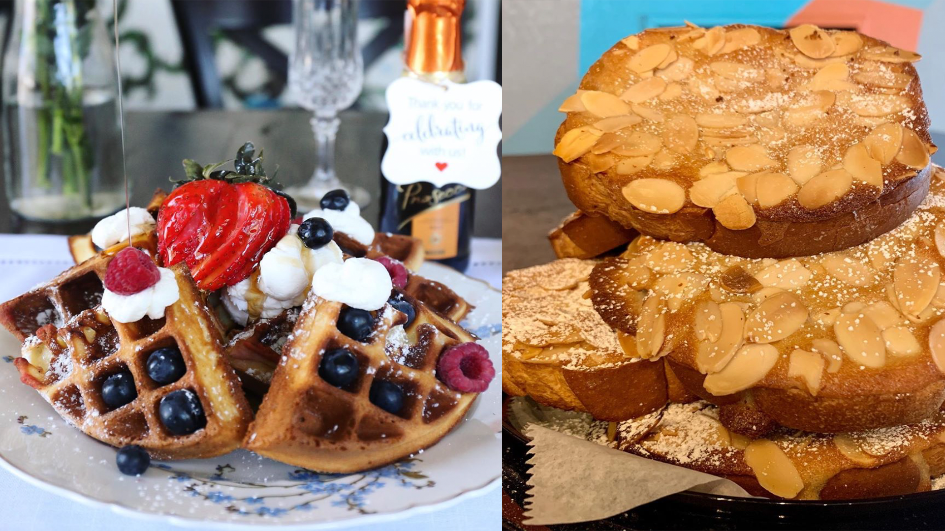 Photo of assorted waffles and almond pastries