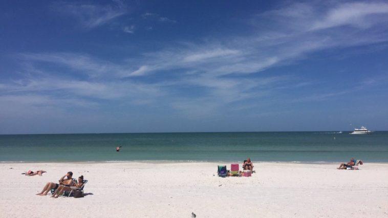 Photo of a white sand beach