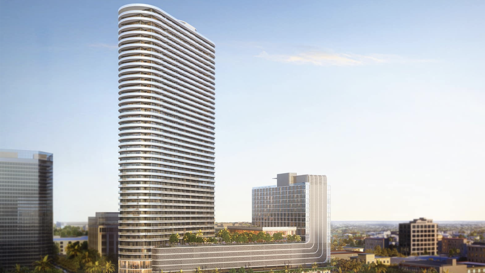 Rendering of a 46-story tower