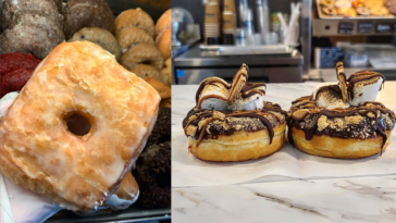 Giant cronut and s'mores donuts featured