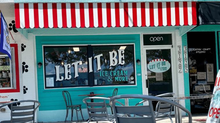Image of Let It Be ice cream shop facade