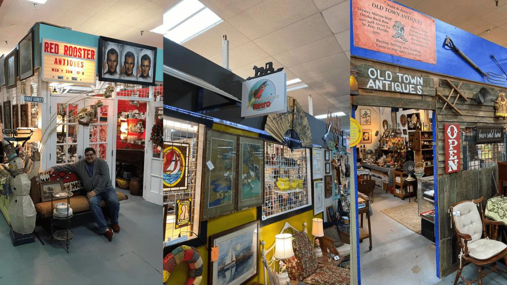Image of market stalls at Skyway Marina