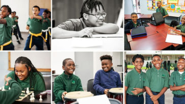 Images of Academy Prep happy students in school