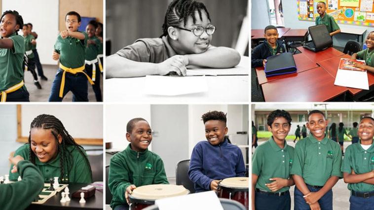 Images of Academy Prep happy students in school