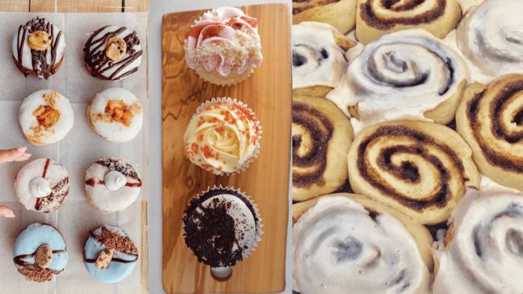 Photo of cinnamon rolls and cupcake