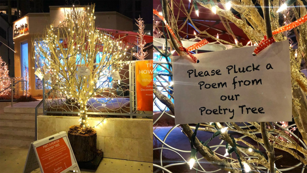 A poetry tree arrives on Beach Drive outside Smith & Associates' office - I Love the Burg