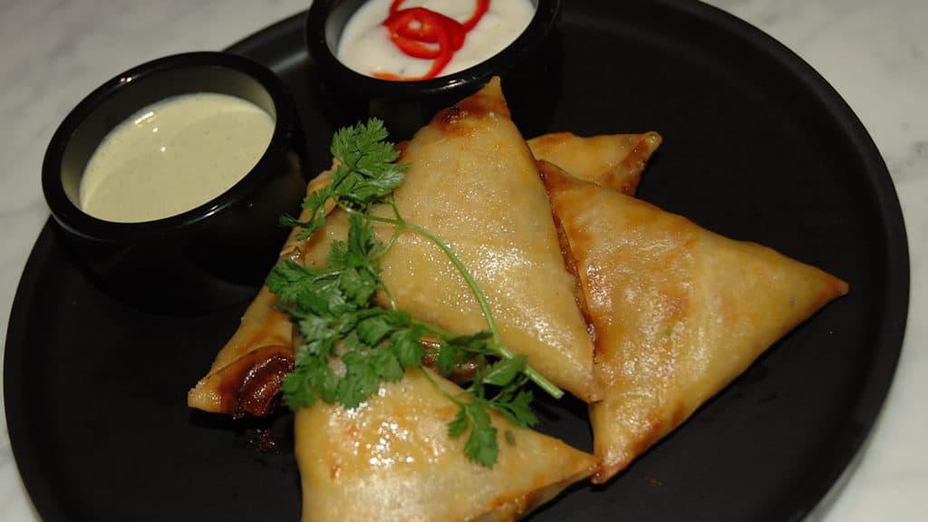 Image of samosas on plate