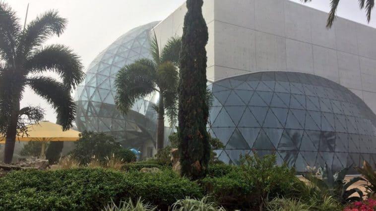 Exterior of the Dali Museum and its glass atrium