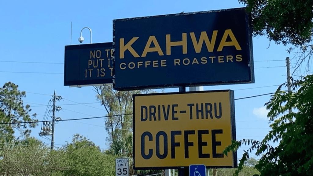 tall drive-thru sign