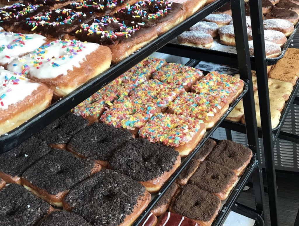 assortment of gourmet square doughnuts