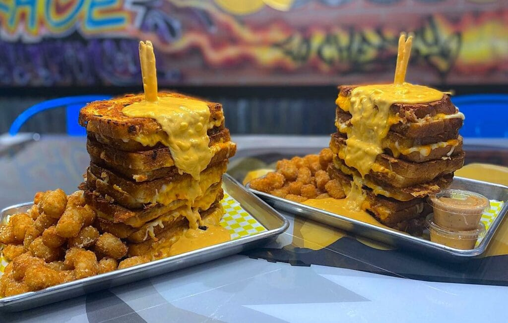 triple layer Mac and cheese