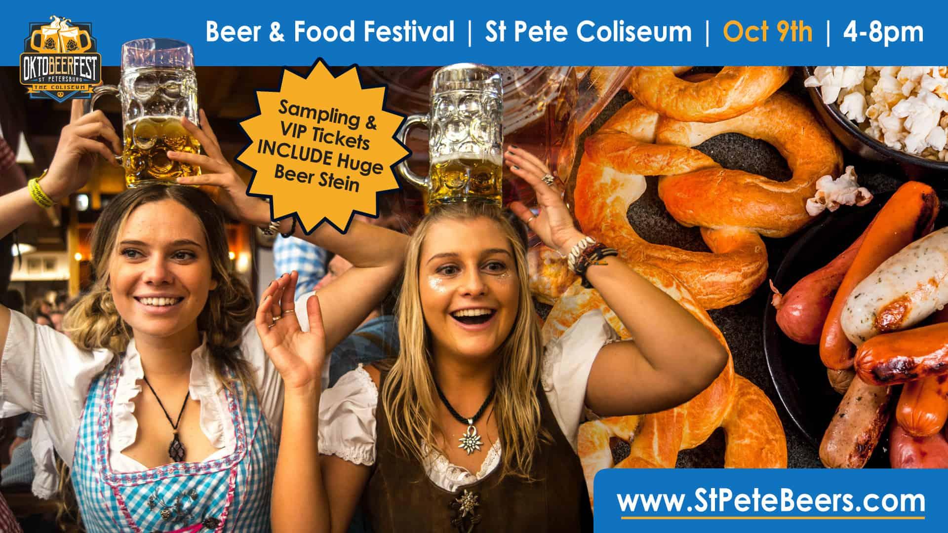 girls holding beer steins on head