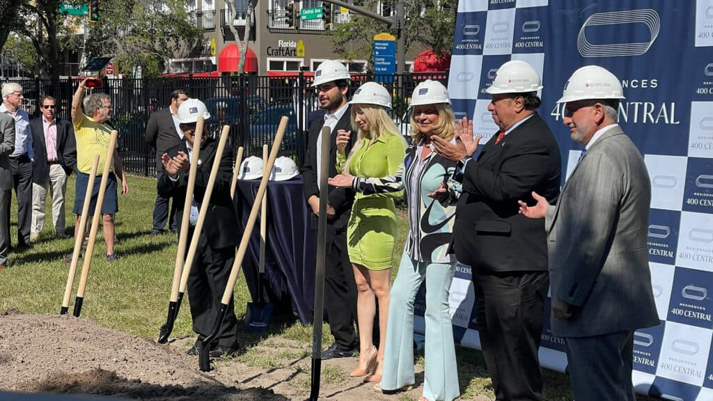 The groundbreaking at The Residences at 400 Central